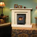 Stockton 5 - English Stone Fireplace