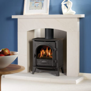 Stockton 5 - Limestone Fireplace