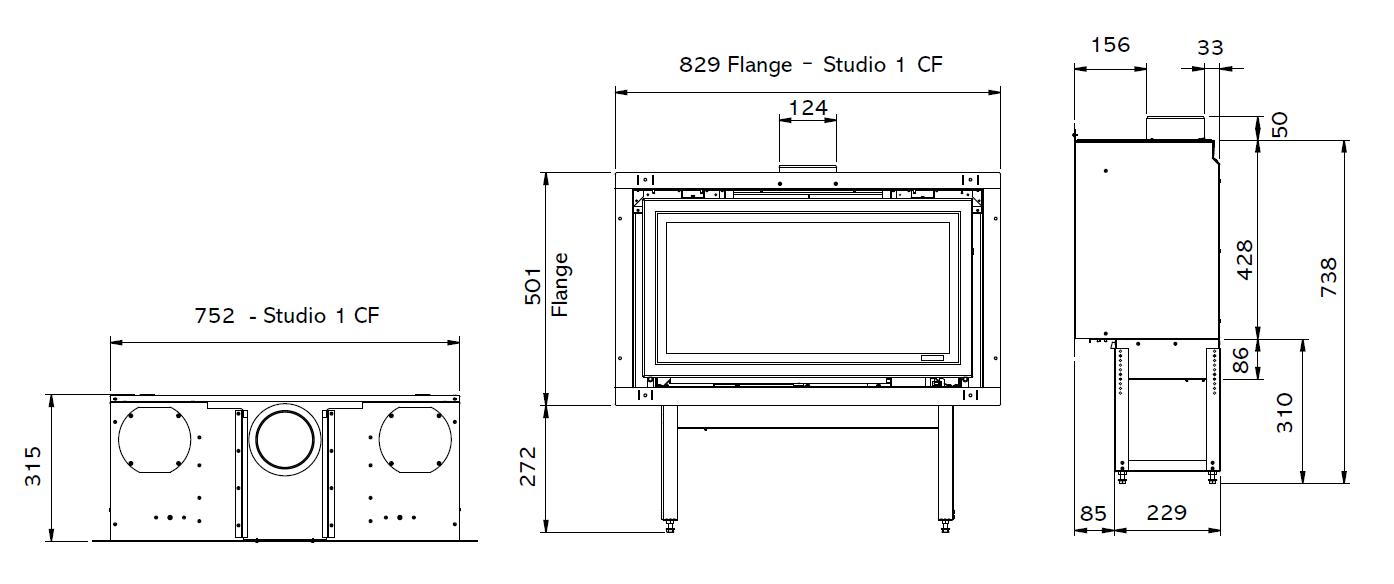 Studio 1 (Conventional Flue)