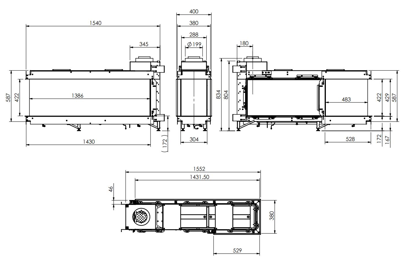 Lucius 140 CR 13 MKII - Dimension Guide