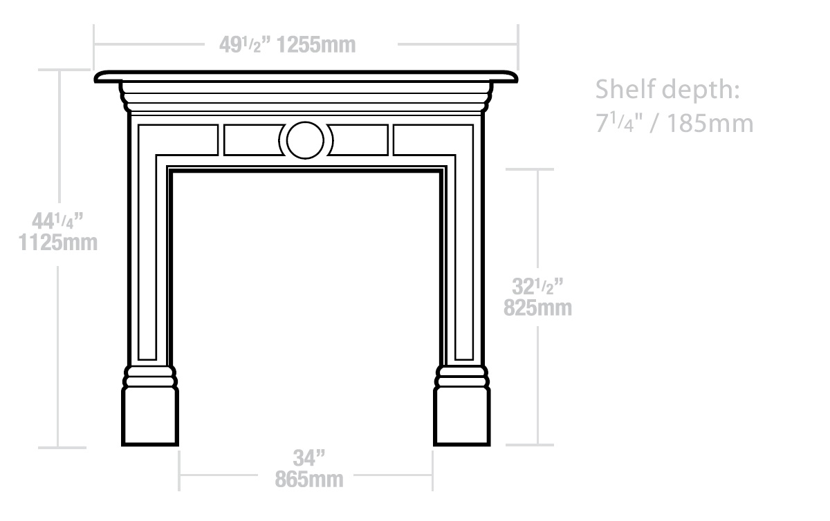 The Victorian Cast Iron Mantel