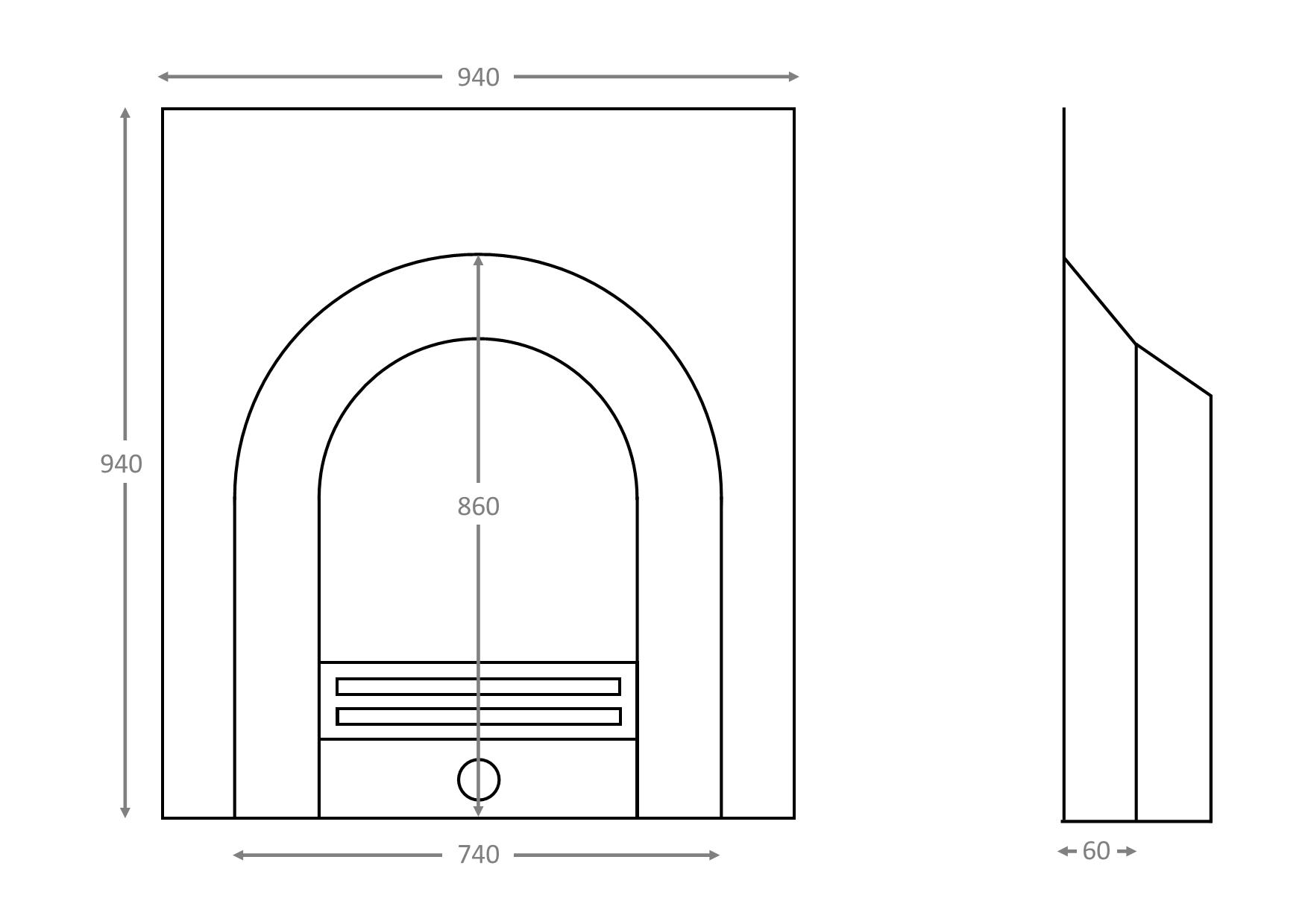 Burcott - Dimension Guide
