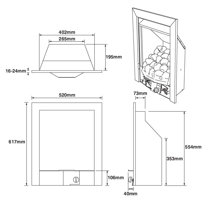 Vantage - Dimension Guide