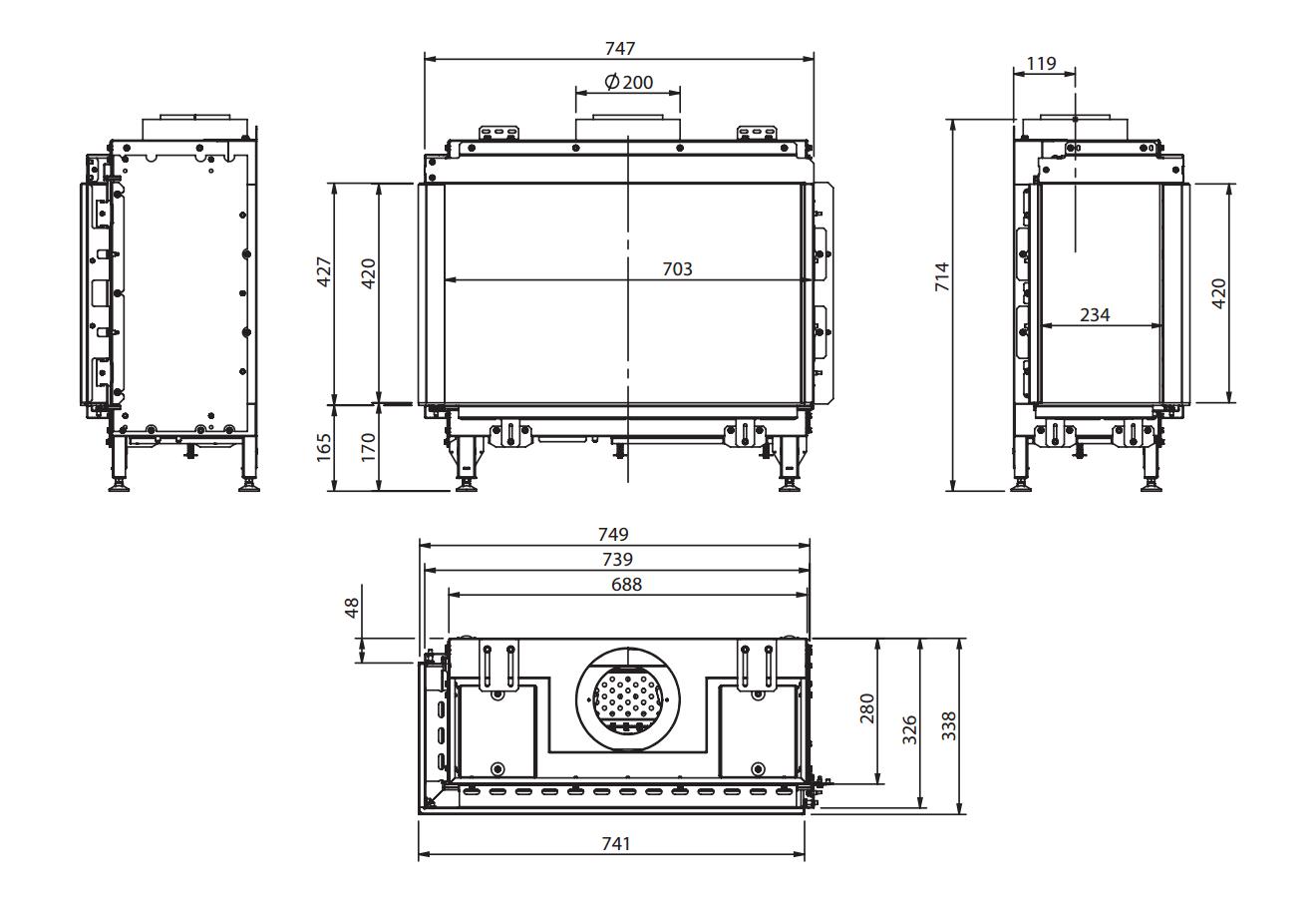 Bidore 70 MKII - Dimension Guide