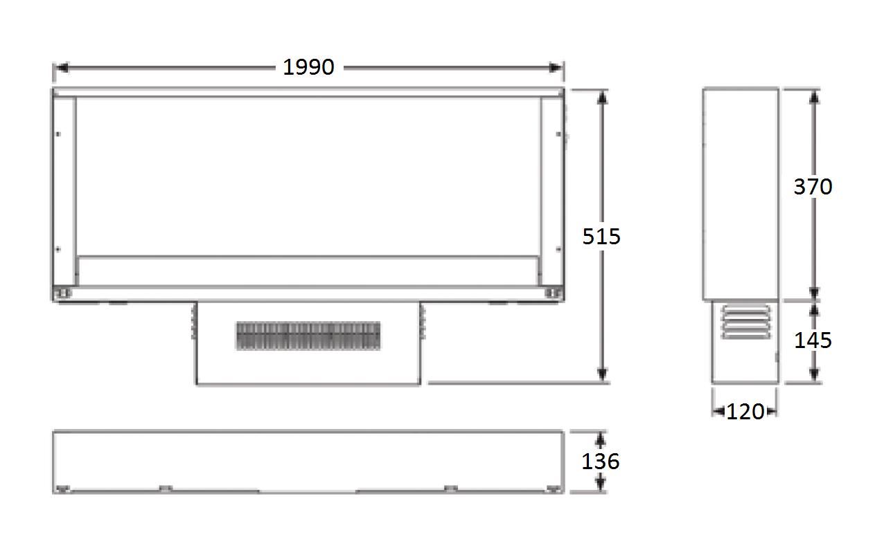 Radience 190W - Dimension Guide