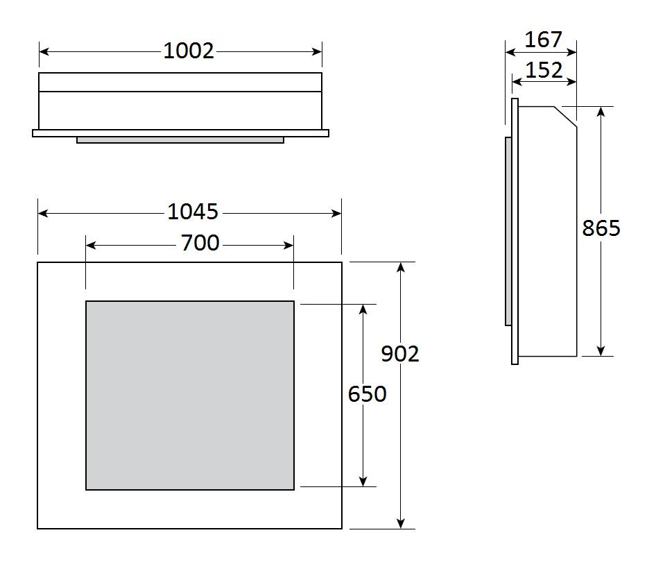 Riva2 70 - Dimension Guide