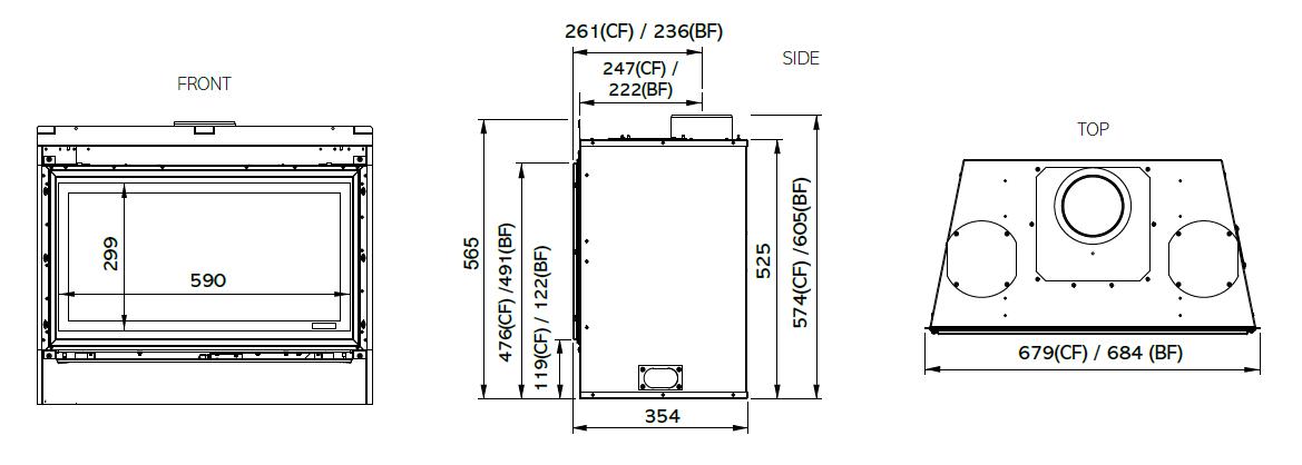 Riva2 670 - Dimension Guide