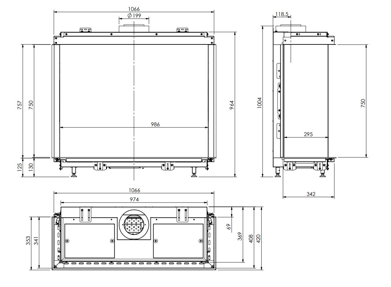 Trisore 100H MKII - Dimension Guide