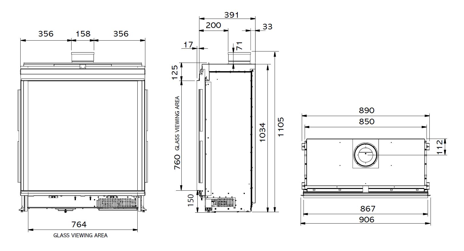 Riva2 800 - Dimension Guide BF